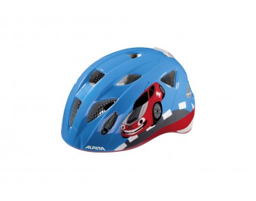 ALPINA XIMO FLASH kids' helmet red car