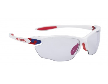 ALPINA TWIST FOUR VLM+ sports glasses white-blue-red/varioflex bluemirror
