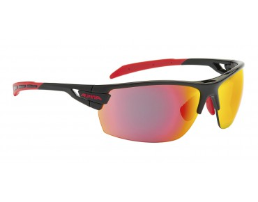 ALPINA TRI SCRAY sports glasses black-red/red mirror