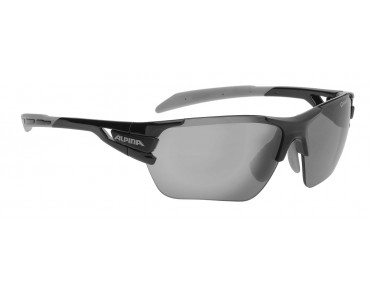 ALPINA TRI SCRAY S sports glasses black-grey/black mirror