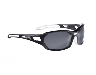 ALPINA BERRYN P Sportbrille black matt-white/polarisation black mirror