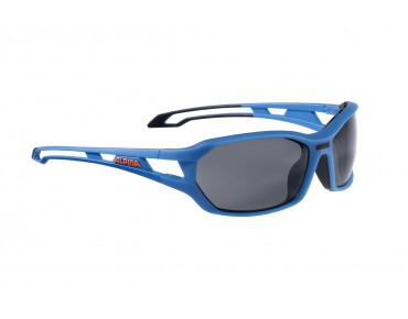 ALPINA BERRYN P sports glasses blue matt-black/polarisation black mirror