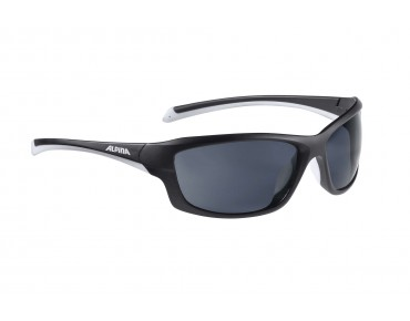 ALPINA DYFER sports glasses black matt-white/black