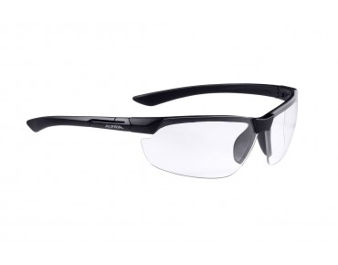 ALPINA DRAFF sports glasses black matt/clear