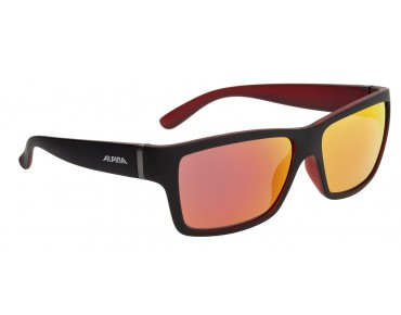 ALPINA KACEY glasses black matt-red/red mirror