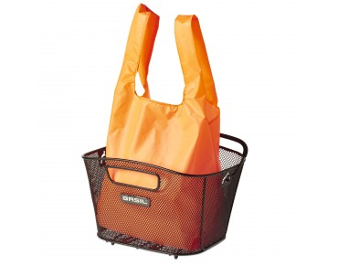 BASIL KEEP SHOPPER shopping bag neon orange