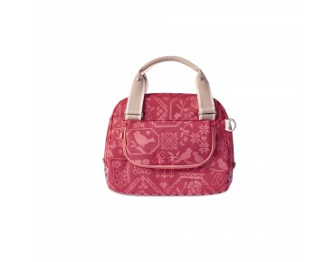 BASIL BOHEME CITY BAG women's bicycle bag incl. adapter plate vintage red