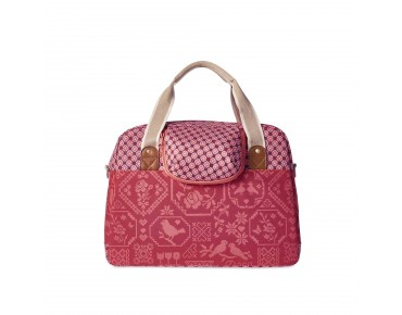BASIL BOHEME CARRY ALL BAG - borsa bici per donna vintage red