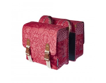 BASIL BOHEME DOUBLE BAG women's bicycle bag vintage red