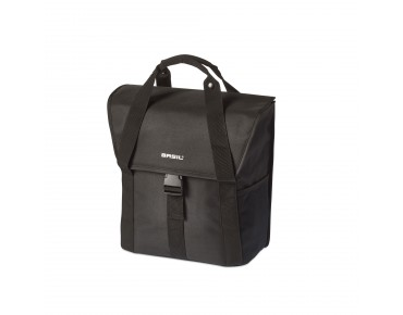 BASIL GO SINGLE BAG pannier solid black