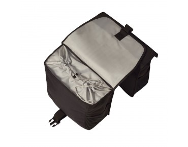 BASIL GO DOUBLE BAG panniers solid black