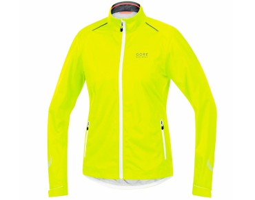 GORE BIKE WEAR ELEMENT GT AS waterproof jacket for women day-glo yellow/white