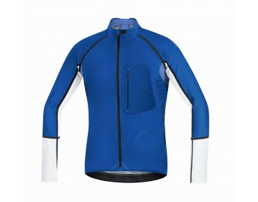 GORE BIKE WEAR ALP-X PRO WINDSTOPPER SOFT SHELL zip-off jersey jacket brilliant blue/white