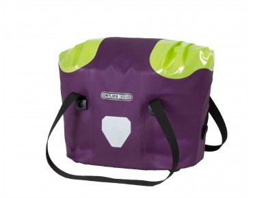 ORTLIEB Front bicycle basket violet/light-green
