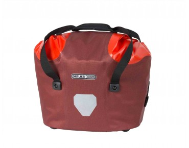 ORTLIEB Front bicycle basket dark chili/signal red