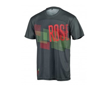ROSE MOUNTAIN LOGO - maglia maniche corte grey/black