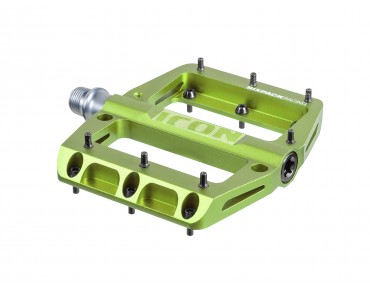 Sixpack Icon pedals electric green