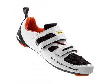 MAVIC COSMIC ELITE TRI Triathlonschuhe white/black/george orange-x
