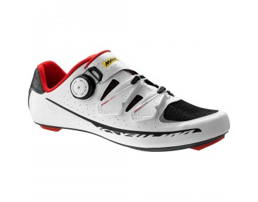 MAVIC KSYRIUM PRO II Rennradschuhe white/black/racing red