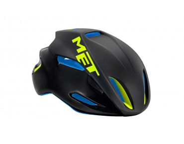 MET MANTA HES Rennradhelm black/blue/green