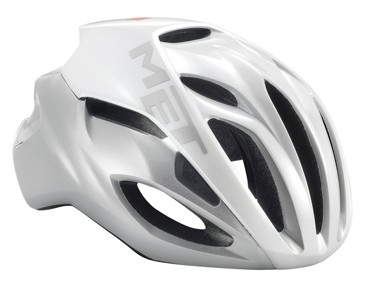 MET RIVALE HES Rennradhelm white/silver