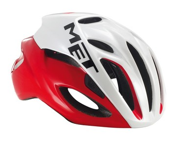 MET RIVALE HES Rennradhelm red/white