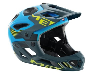 MET PARACHUTE HES Enduro/All Mountain-Helm matt cyan/green
