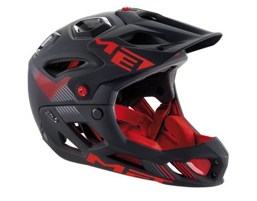 MET PARACHUTE HES Enduro/All Mountain-Helm matt black/red
