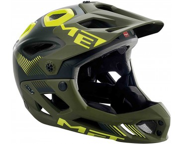 MET PARACHUTE HES enduro/all mountainhelm matte black/green