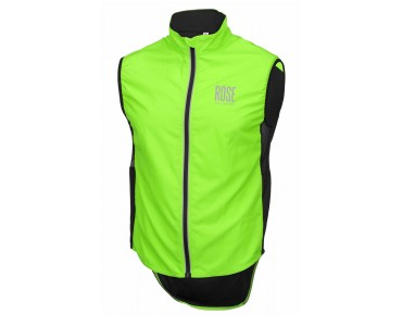 ROSE PRO FIBRE II windproof vest fluo green
