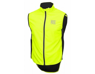 ROSE PRO FIBRE II windproof vest fluo yellow
