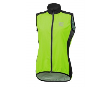ROSE PRO FIBRE Damen-Windweste fluo green/black