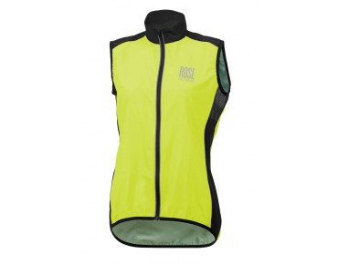 ROSE PRO FIBRE women's windproof vest fluo yellow/black
