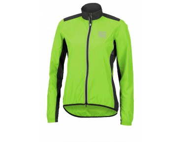 ROSE PRO FIBRE Damen Rad Jacke fluo green/black