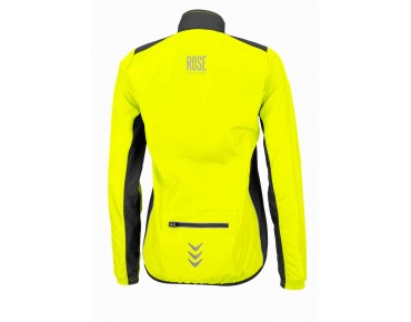ROSE PRO FIBRE WIND women's windbreaker fluo yellow/black