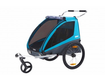 Thule COASTER XT 2 seater kid's trailer blue