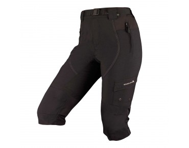 ENDURA HUMMVEE ¾-length bike trousers for women incl. inner shorts black