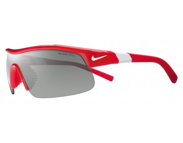 Nike SHOW X1 sports glasses set university red/grey w silver flash