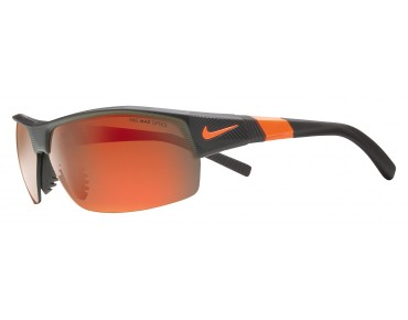 Nike SHOW X2 sports glasses set matte deep pewter-total orange/grey w  ml orange flash