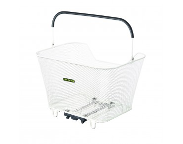 Racktime Bask-it rear bicycle basket weiß