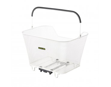 Racktime Bask-it rear bicycle basket white