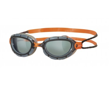 Zoggs Predator Schwimmbrille smoke-orange/graue Scheibe ltd.