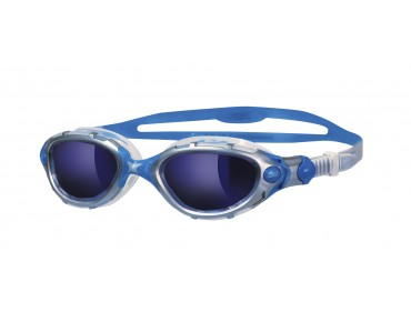 Zoggs Predator Flex swimming goggles silver-blue/blue mirrored lens