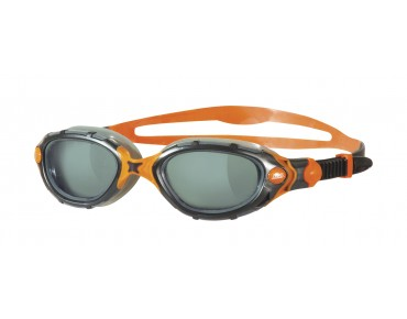 Zoggs Predator Flex Schwimmbrille smoke-orange/graue Scheibe ltd.