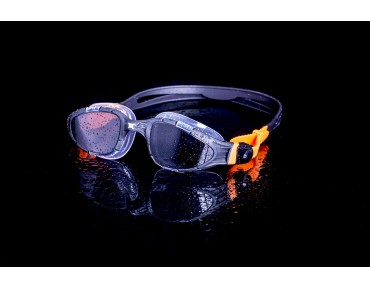 Zoggs Aqua Flex swimming goggles black-orange/grey lens