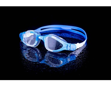 Zoggs Aqua Flex swimming goggles blue-white/clear mirror