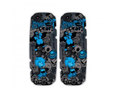 rie:sel design gabel:schutz stickerbomb ultra black blue
