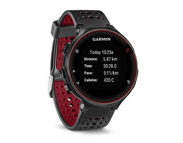 Garmin Forerunner 235 GPS watch marsala