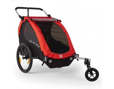 Burley HONEY BEE 16 bicycle trailer for two kids rot