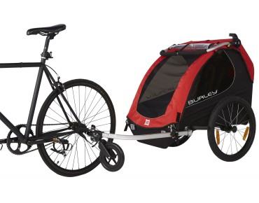 Burley HONEY BEE child bike trailer for 2 kids red